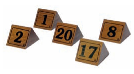 wooden table numbers- promotional gift