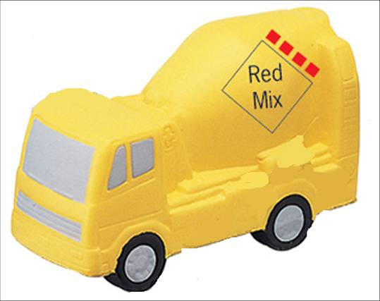 promotional gift-cement mixer anti stress ball