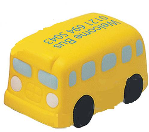 BUSINESS GIFT-SCHOOL BUS ANTI STRESS BALL