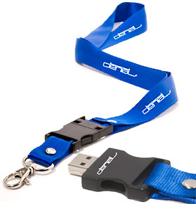 business gift-Lanyard USB Memory Drive