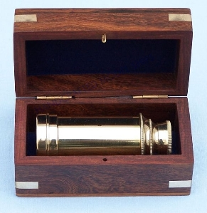 scout's brass spyglass telescope gift- promotional gift