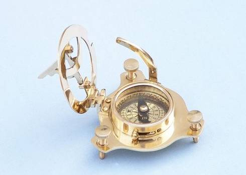Captain's Brass Triangle Sundial Compass -business gifts