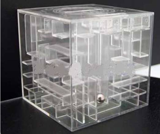 CLEAR MONEY BOX IN MAZE PUZZLE BRAIN-epaggelmatiko doro