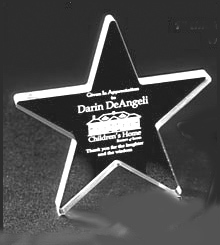PROMOTIONAL GIFT-Clear Acrylic Star Award Trophy