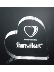 business gift-acrylic heart award