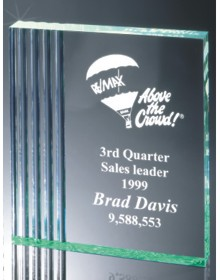 promotional gift-free standing fluted side plaque