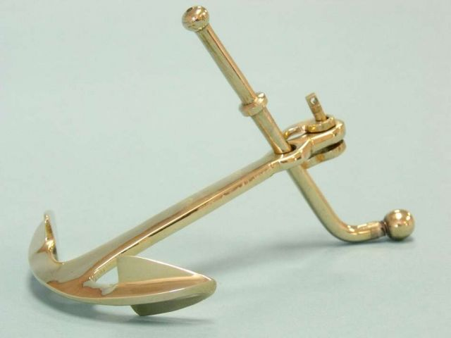 Solid Brass Anchor Paper Weight Nautical Decor -promotional gift